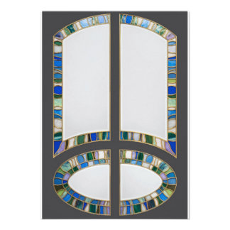Stained-glass Personalized Announcement