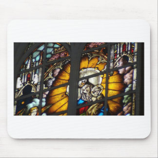 Stained Glass Jesus and Virgin Mary Mousepads