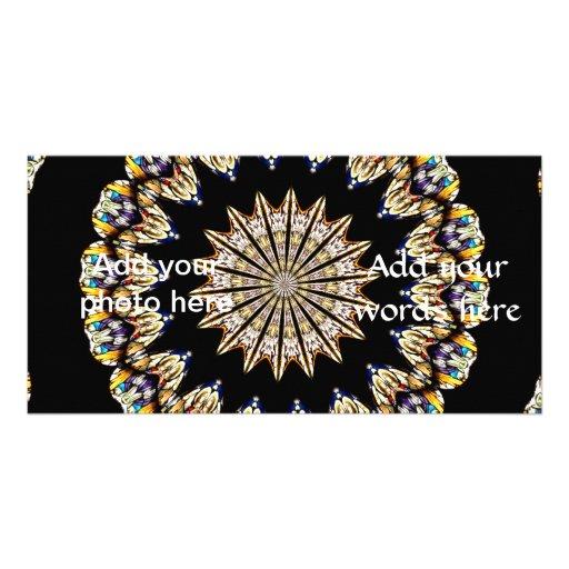 Stained Glass Kaleidoscope 1 Customized Photo Card
