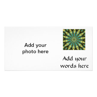 Stained Glass Kaleidoscope #6 Photo Cards
