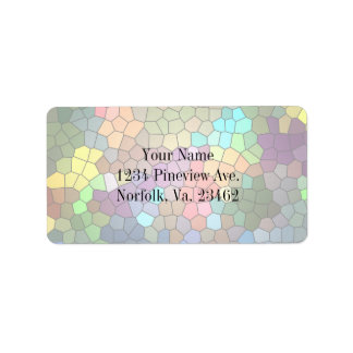 Stained Glass Address Label
