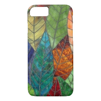 Stained Glass Leaves iPhone 7 case