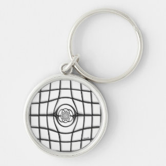 Stained Glass (light) Keychain (key fob)