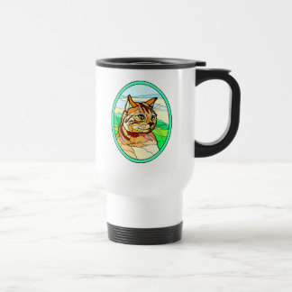 Stained Glass Look Cat 1 Mug