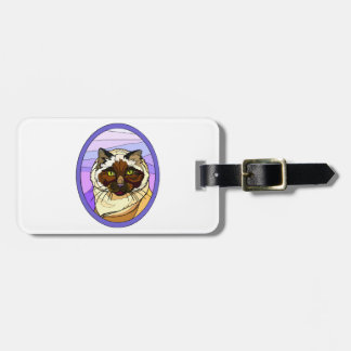 Stained Glass Look Cat 2 Travel Bag Tag
