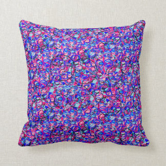 stained glass look circle pillow