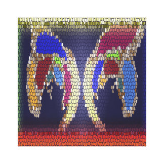 Stained Glass Look - Helping Hands Canvas Prints