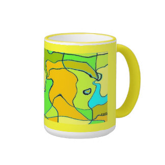 Stained glass look mugs