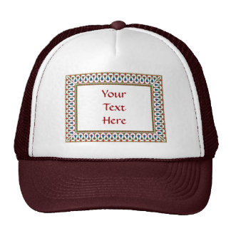 Stained Glass Look vintage design Trucker Hats