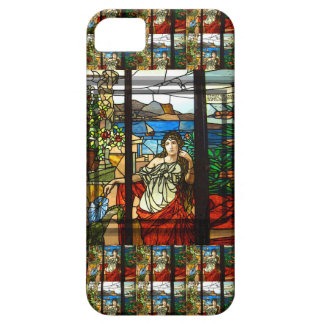 Stained glass look with lady sitting. iPhone 5 cover