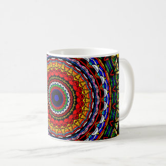 Stained Glass Mandala Coffee Mug