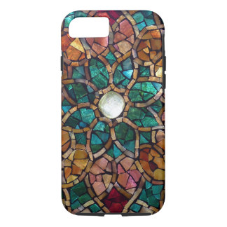 """Stained Glass Mosaic """"Autumn Star"""" iPhone 7 Case"""