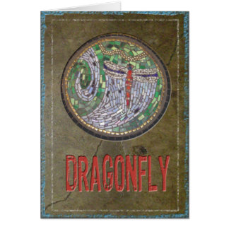 Stained Glass Mosaic: Dragon Fly Card