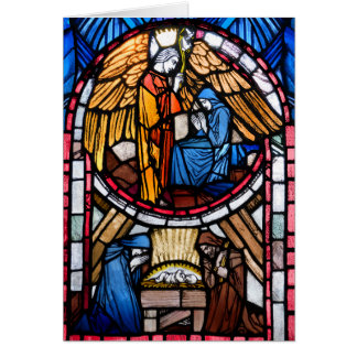 Stained Glass Nativity Card