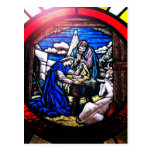 Stained Glass Nativity Postcard