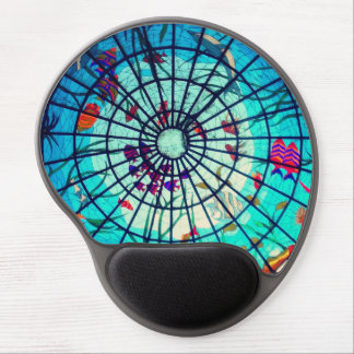 Stained glass ocean life gel mouse gel mouse pad