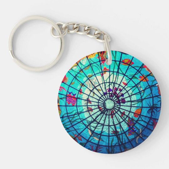 Stained glass ocean life keychain