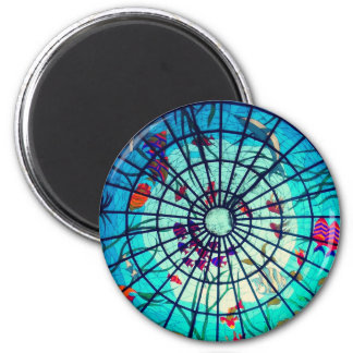 Stained glass ocean magnet