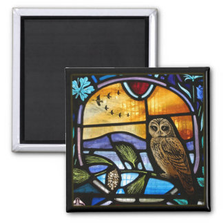 Stained Glass Owl - Magnet