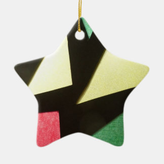 Stained Glass Pattern Star Ornament