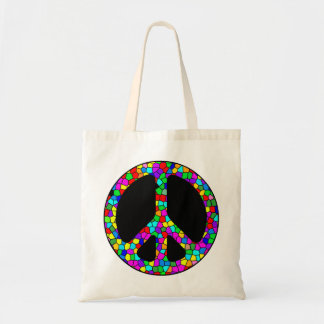 Stained Glass Peace Tote Tote Bags