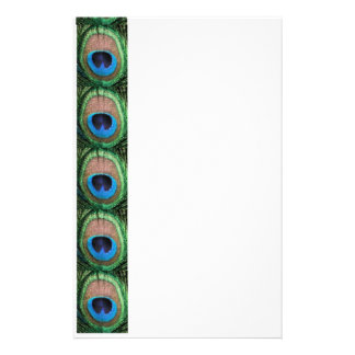 Stained Glass Peacock Stationery