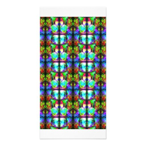 Stained-Glass Custom Photo Card