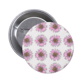 Stained Glass Pink Daisies Pin