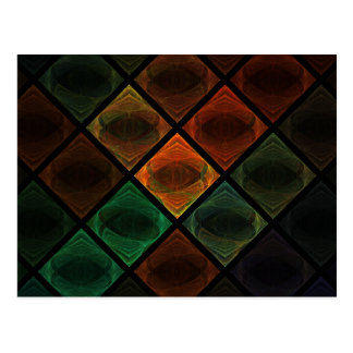 Stained Glass Post Card