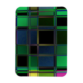 Stained Glass Rectangular Magnet