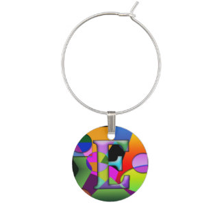 Stained Glass Prismatic Wine Charms