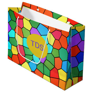Stained Glass Rainbow 2183 Large Gift Bag