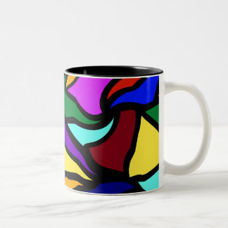 Stained Glass Recycled Two-Tone Coffee Mug