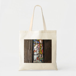 Stained Glass Religious Window Tote Bag