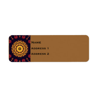 'Stained Glass' Return Address Label