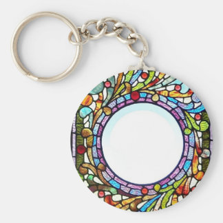 Stained Glass Ring Keychain