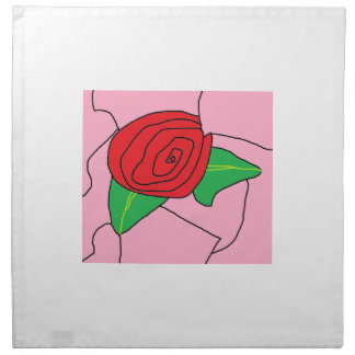 Stained Glass Rose Napkin