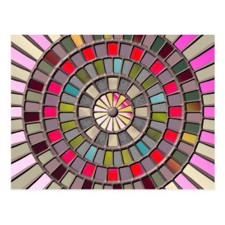 Stained Glass Roulette Wheel Postcard