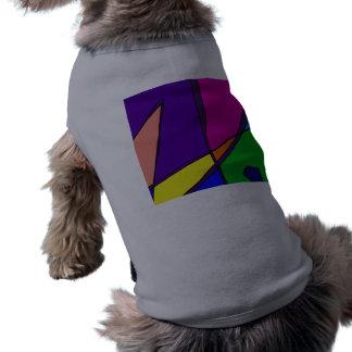 Stained Glass Simulation Sleeveless Dog Shirt