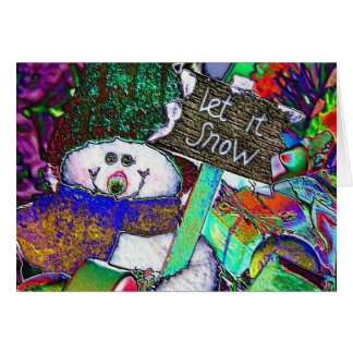 Stained glass Snowman Card