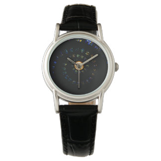 Stained glass spiral ceiling women's watch