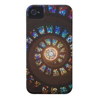 Stained Glass Spiral iPhone 4 Case-Mate Cases