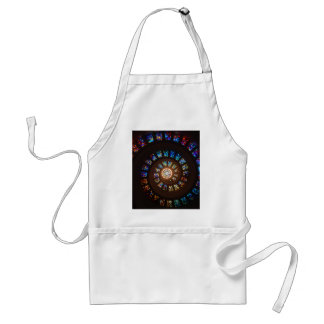Stained Glass Spiral Standard Apron