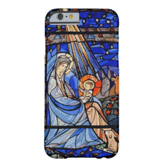 Stained Glass Style Nativity Barely There iPhone 6 Case