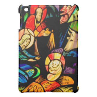 Stained Glass Style Nativity iPad Mini Cover