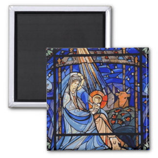 Stained Glass Style Nativity Magnets