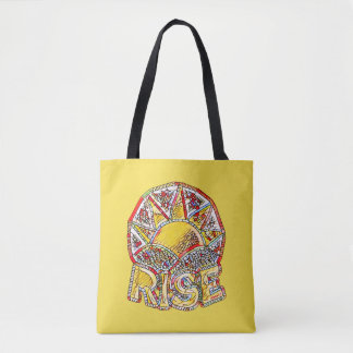 Stained Glass Sun Rise ~ Uplifting Message Tote Bag