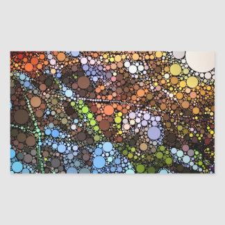 Stained Glass Sunset Series Rectangular Sticker