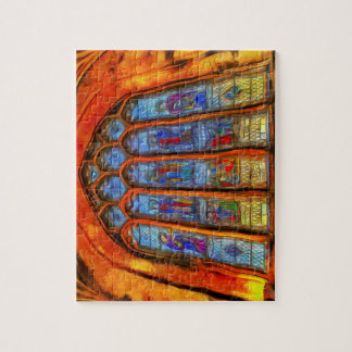 Stained Glass Van Gogh Jigsaw Puzzle