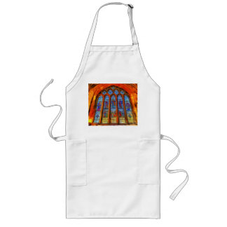 Stained Glass Van Gogh Long Apron